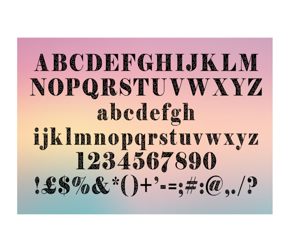 Print on Demand: Filigran Decorative Font By Eva Barabasne Olasz - Image 3