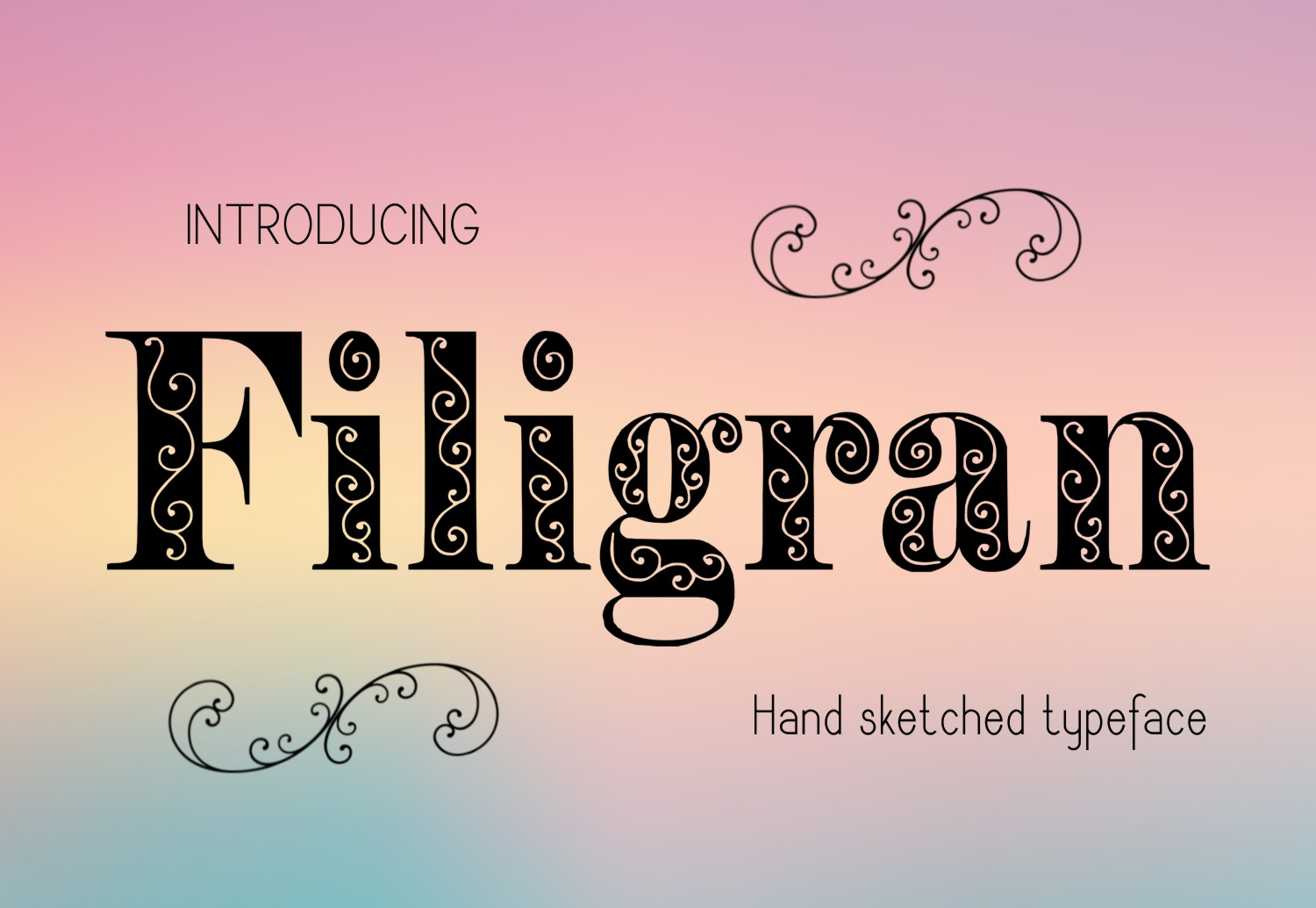 Print on Demand: Filigran Decorative Font By Eva Barabasne Olasz