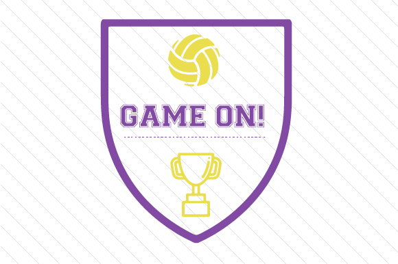 Game on Volleyball Sports Craft Cut File By Creative Fabrica Crafts - Image 1