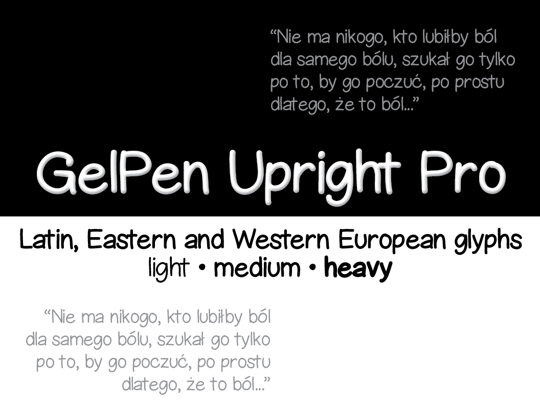 Print on Demand: GelPen Upright Pro Script & Handwritten Font By Sharasfonts
