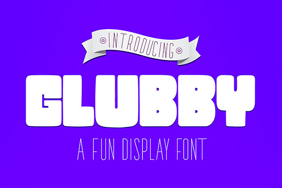Glubby Display Font By Corgi Astronaut