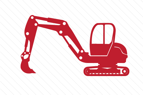JCB Construction Machine Red Vehicles Craft Cut File By Creative Fabrica Crafts