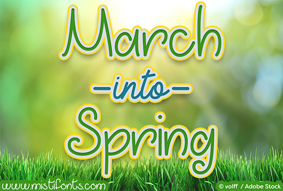 March into Spring Script & Handwritten Font By Misti