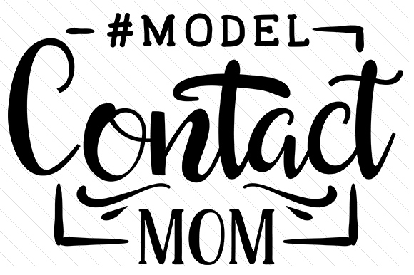 Model - Contact Mom Kids Craft Cut File By Creative Fabrica Crafts