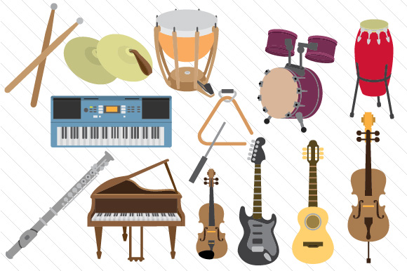 Music Instruments Design Bundle Kits & Sets Craft Cut File By Creative Fabrica Crafts - Image 1