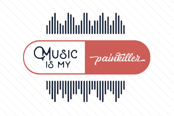 Download Free Music Is My Painkiller Svg Cut File By Creative Fabrica Crafts for Cricut Explore, Silhouette and other cutting machines.