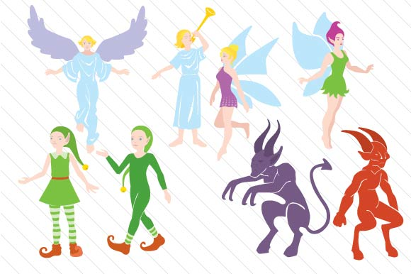 Download Free Mythical Creatures Design Set Svg Cut File By Creative Fabrica for Cricut Explore, Silhouette and other cutting machines.