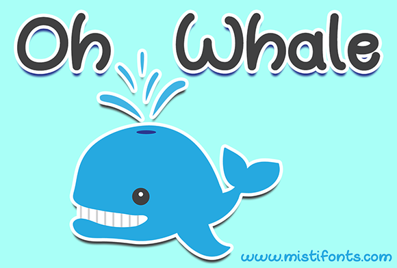 Print on Demand: Oh Whale Script & Handwritten Font By Misti