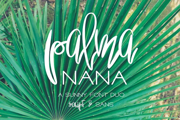 Print on Demand: Palma Nana Script & Handwritten Font By Anastasiia Macaluso