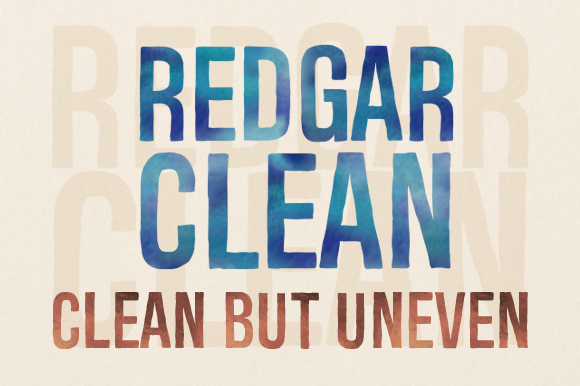 Print on Demand: Redgar Clean Display Font By Deepak Dogra