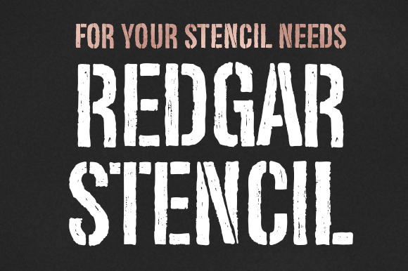Print on Demand: Redgar Stencil Display Font By Graphite