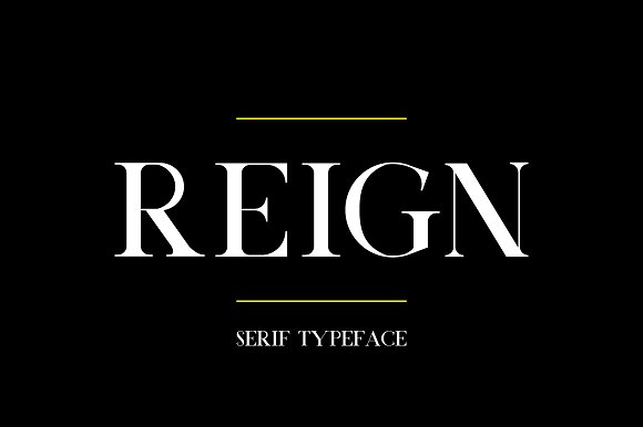 Print on Demand: Reign Serif Font By Mike Hill