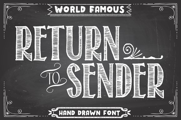 Return to Sender Font By Tom Kolter