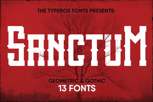 Print on Demand: Sanctum Inky Collection Display Font By Type Box