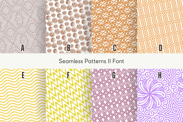 Print on Demand: Seamless Patterns II Dingbats Font By Situjuh