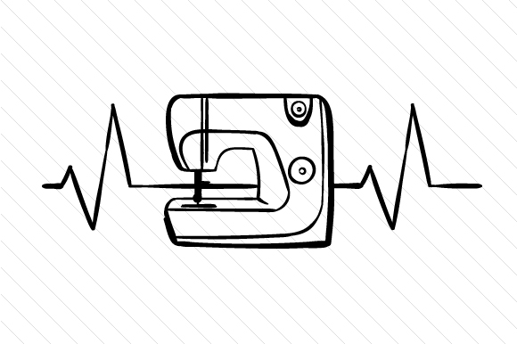 Download Free Sewing Machine Heartbeat Svg Cut File By Creative Fabrica Crafts for Cricut Explore, Silhouette and other cutting machines.