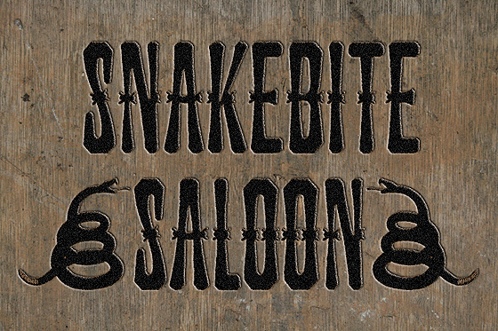 Download Free Snakebite Saloon Font By Tom Kolter Creative Fabrica for Cricut Explore, Silhouette and other cutting machines.