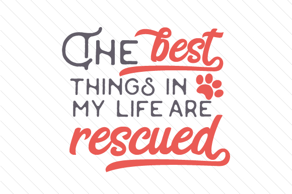 The Best Things in My Life Are Rescued Craft Design By Creative Fabrica Crafts