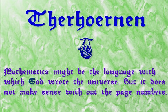 Print on Demand: Therhoernen Blackletter Font By Proportional Lime