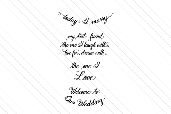 Today I Marry Wedding Craft Cut File By Creative Fabrica Crafts - Image 1