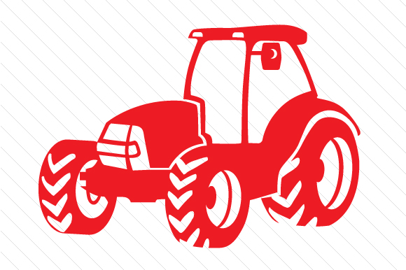 Tractor Red Vehicles Craft Cut File By Creative Fabrica Crafts