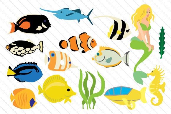 Underwater World Designs & Drawings Craft Cut File By Creative Fabrica Crafts - Image 1