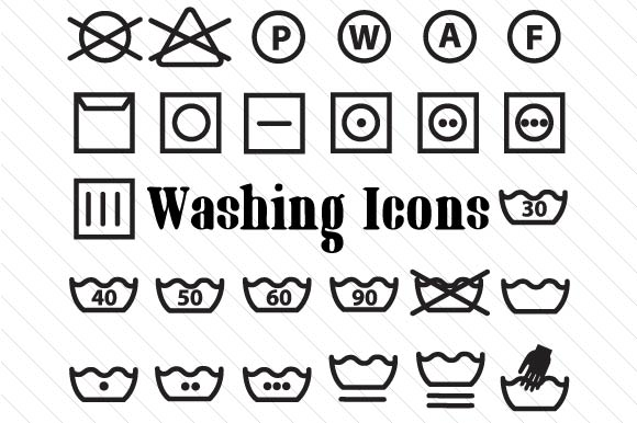 Washing Icons Set Laundry Room Craft Cut File By Creative Fabrica Crafts