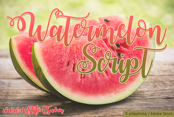 Print on Demand: Watermelon Script Manuscrita Fuente Por Misti