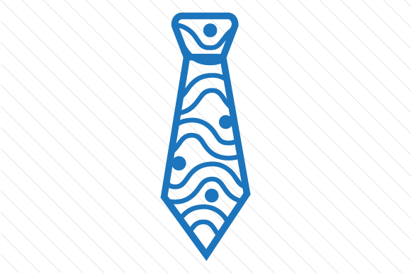 Waves Patterned Necktie Designs & Drawings Craft Cut File By Creative Fabrica Crafts