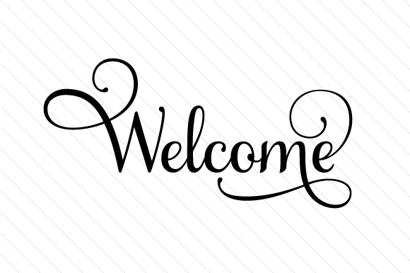 Welcome Türschilder Plotterdatei von Creative Fabrica Crafts