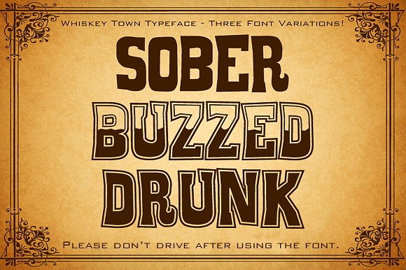 Whiskey Town Font By Tom Kolter