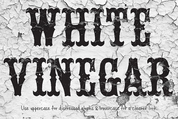 Print on Demand: White Vinegar Blackletter Font By Tom Kolter