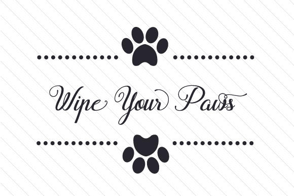 Wipe Your Paws Craft Design By Creative Fabrica Crafts Image 1