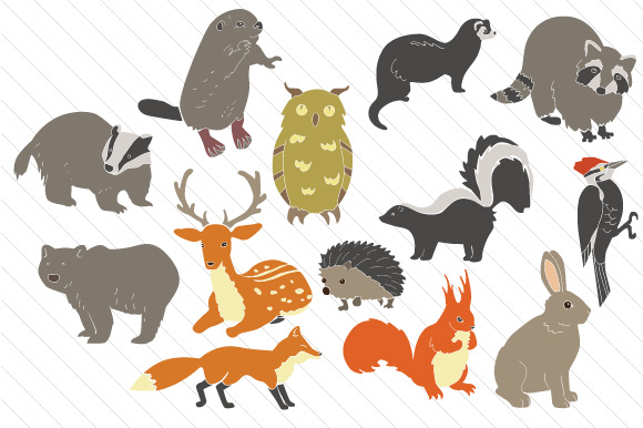 Download Free Woodlands Animals Set Svg Cut File By Creative Fabrica Crafts for Cricut Explore, Silhouette and other cutting machines.