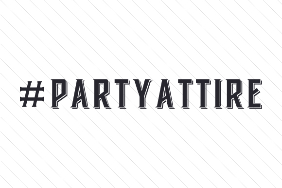 #partyattire Hashtag # Craft Cut File By Creative Fabrica Crafts