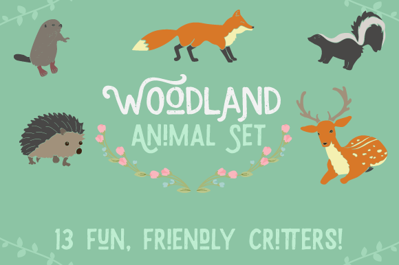 Woodlands Animals Set Designs & Drawings Craft Cut File By Creative Fabrica Crafts