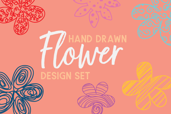 Hand Drawn Flower Set Kits & Sets Craft Cut File By Creative Fabrica Crafts