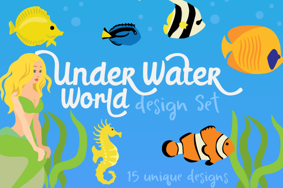 Underwater World Designs & Drawings Craft Cut File By Creative Fabrica Crafts