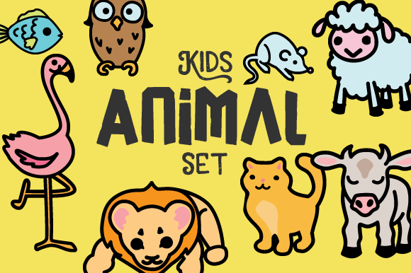 Kids Animal Set Kids Craft Cut File By Creative Fabrica Crafts