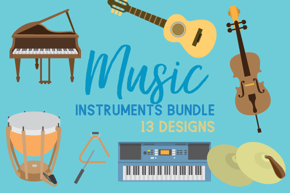 Music Instruments Design Bundle Kits & Sets Craft Cut File By Creative Fabrica Crafts