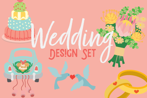 Wedding Design Set Designs & Drawings Craft Cut File By Creative Fabrica Crafts