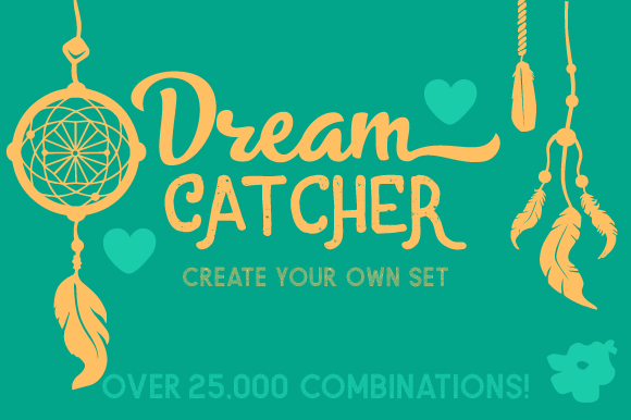 Dream catcher kit design your own dream catcher svg cut for Create your own dream house