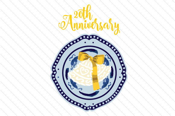 20th Anniversary Anniversary Craft Cut File By Creative Fabrica Crafts