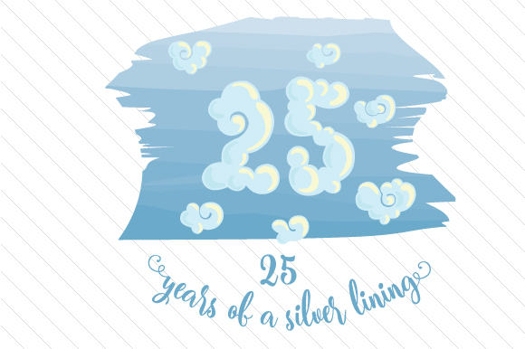 Download Free 25 Years Of A Silver Lining Svg Cut File By Creative Fabrica for Cricut Explore, Silhouette and other cutting machines.