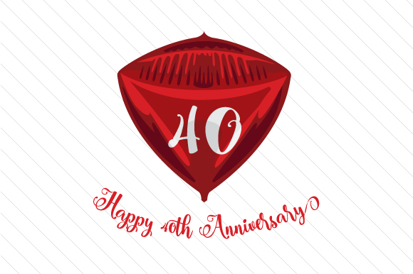 Download Free Anniversary Wedding Ruby Svg Cut File By Creative Fabrica Crafts Creative Fabrica for Cricut Explore, Silhouette and other cutting machines.
