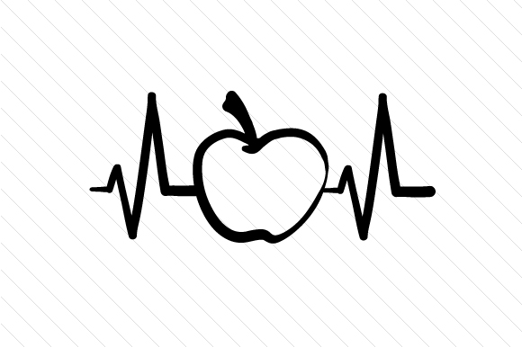 Apple Heartbeat Svg Cut File By Creative Fabrica Crafts