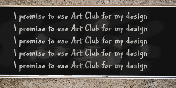 Print on Demand: Art Club Font By Good Gravy Type - Image 3