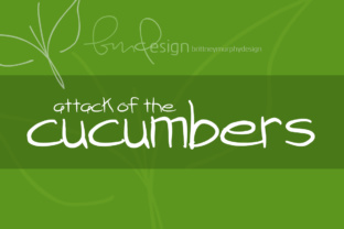 Attack of the Cucumbers by Brittney Murphy Design