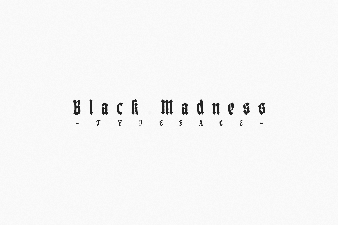 Print on Demand: Black Madness Blackletter Font By Mirco Zett Fonts