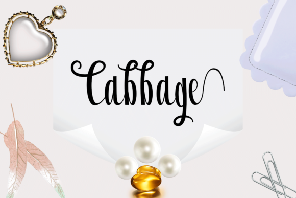 Print on Demand: Cabbage Script & Handwritten Font By Rt Creative